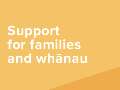 Resources to support families and whānau