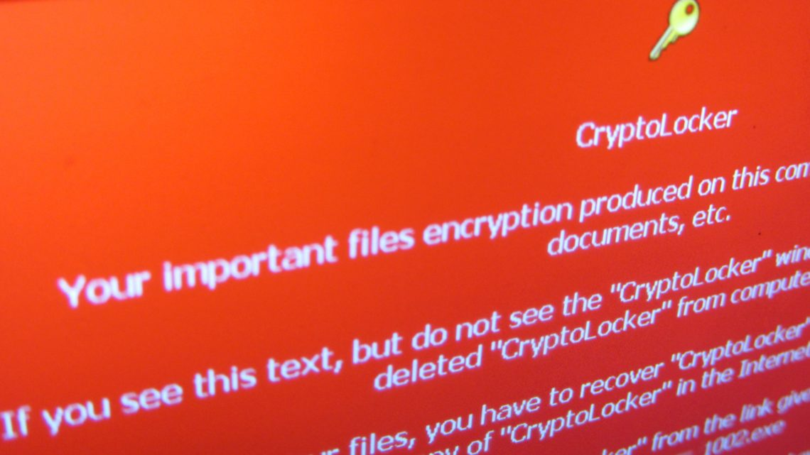 CyptoLocker ransomware screen