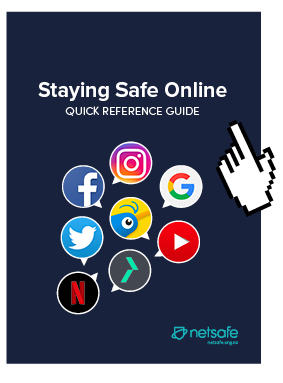 Cover of the Staying Safe Online Guide with everyone's logos