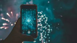 Taking picture of fireworks with phone
