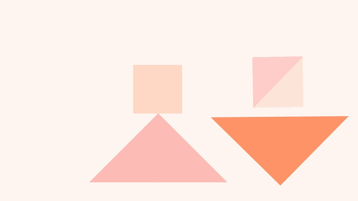 A graphic with alternating squares and triangles