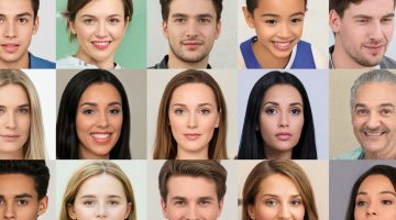 Images of people being morphed into other people