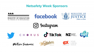 Logos of the companies that are supporters for Netsafety Week